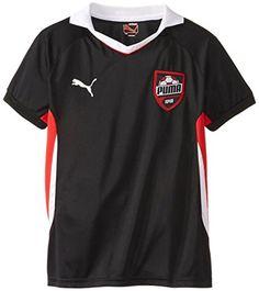 817884d50 PUMA Big Boys  Short Sleeve Active Soccer Top
