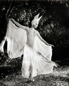 Nini Theilade as Fairie, Attending Titania, in A Midsummer Night's Dream (1935 film).
