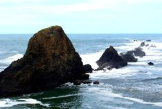 Seal Rock, south of Ona Beach State Park and north of Waldport, Oregon.  Photo by Andy York.