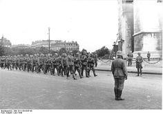 German victory parade, Paris, June 1940.