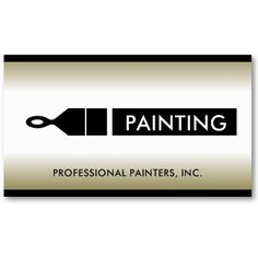 The new cool biz card painter contractor custom pinterest card painter painting contractor paint brush business card wajeb Image collections