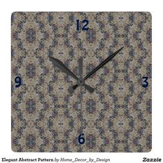 Elegant Abstract Pattern Square Wall Clock