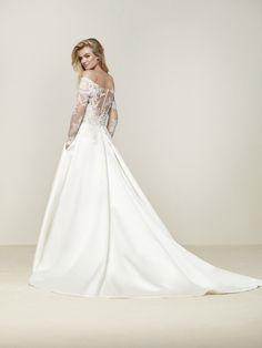Vestido de novia talle a la cintura