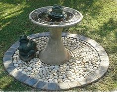Image result for bird bath on cobbled circle