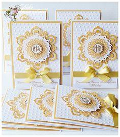 DSC_01831 First Communion Cards, Première Communion, First Communion Invitations, Baby Invitations, First Holy Communion, Invitation Cards, Confirmation Cards, Diy And Crafts, Paper Crafts