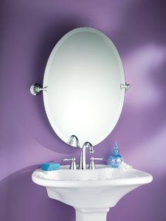 Moen DN2692CH Glenshire Oval Tilting Mirror, Chrome | Online Home Decorating