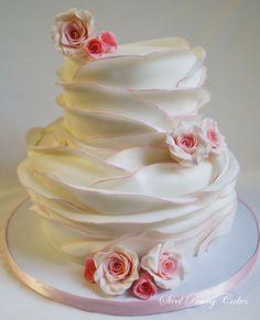 Wrapped Fondant Cake #wedding #weddingcake