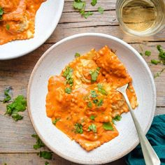 Homemade Pasta Dough, Butternut Squash Pasta, Creamy Polenta, Ravioli, Rustic Kitchen, Side Dishes, Easy Meals, Dinner, Rollatini