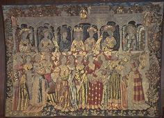 I want to make the dress on the far right. Saw this tapestry in person at the museum -- fabulous! Textile Tapestry, Wall Tapestry, Tapestries, Courtly Love, Gardner Museum, Medieval Tapestry, Medieval Knight, Medieval Costume, Renaissance Art