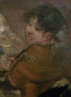 WILLETTE Adolphe,1884 - Parce Domine - Detail 132 : Jeune femme aux yeux baissés.  English: - Young woman with eyes cast down. - Montmartre -