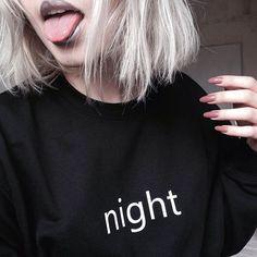 $8,15-8,49 Sweatshirt - http://ali.pub/s7ule AliExpress style cool nice clothing clothes fashion black girl dark holy night day tumblr shirt