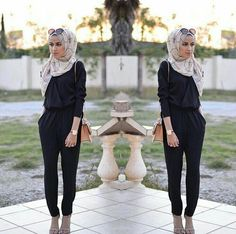 hijab, black, and fashion image