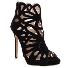 Trendy Noir Couleur et Zipper design sandales pour femmes