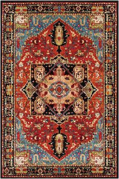 serapi rug - I'm a huge fan of oriental rugs in general and the Serapi in particular. something about the beautiful feminine floral patterns combined with the more masculine geometrics and deeper colors that to me is just about perfect. Cheap Carpet Runners, Traditional Area Rugs, Unique Rugs, Cool Rugs, Persian Carpet, Persian Rug, Turkish Rugs, Rugs On Carpet, Style