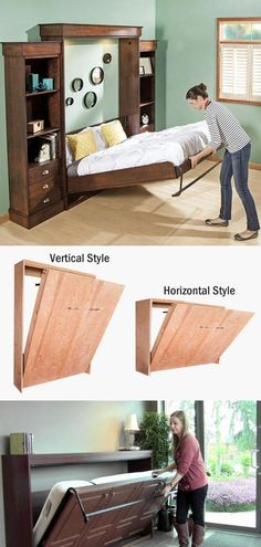 """Fantastic """"murphy bed ideas ikea diy"""" info is offered on our internet site. Check it out and you will not be sorry you did. Cama Murphy, Murphy Bed Desk, Best Murphy Bed, Murphy Bed Plans, Diy Murphy Bed, Horizontal Murphy Bed, Modern Murphy Beds, Bed Wall, Decorate Your Room"""
