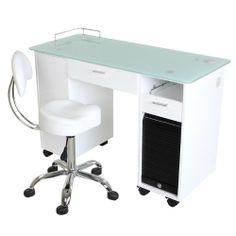 """Superb"" White Manicure Table / Amazon $579.98"