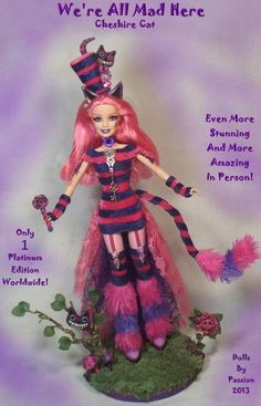 Barbie Cheshire Cat Alice Wonderland Goth Art Doll Altered OOAK Custom PASSION | eBay