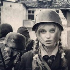 German girl at war