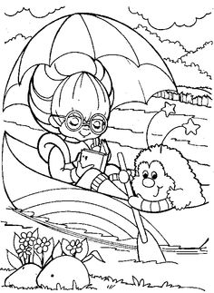 Rainbow brite Coloring Pages Online Rainbow Brite Playing In The
