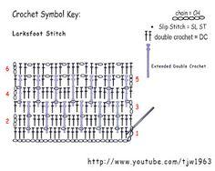 Larksfoot Crochet Pattern Stitch