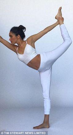 Meghan doing Yoga...