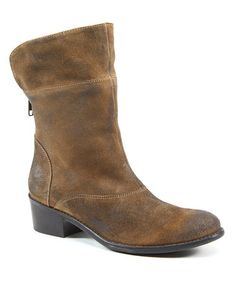 Take a look at this Cognac Suede Gib Son Ankle Boot by Walk on the Style Side: Women's Shoes on @zulily today!