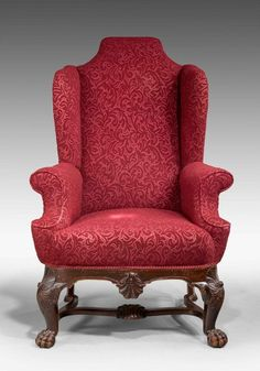 A Late 19th Century Mahogany Wing Chair (Ref No. 6494) - Windsor House Antiques