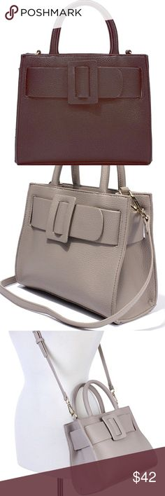 Miss Cherie Satchel Handbag Perfect, cute and chic satchel Handbag doubles as a cross body. Resemble Dior Handbag. Vegan leather, soft a supple. Bags Crossbody Bags