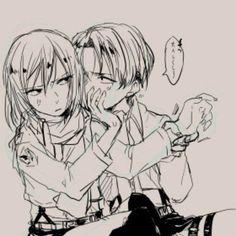 №1 [Rivamika/Levimika] [Fan arts].. Otp, Levi Mikasa, Rivamika, Eremika, Levihan, I Ship It, Levi Ackerman, Anime Ships, Resident Evil