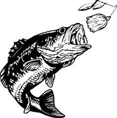 jumping bass fish clip art clipart panda free clipart images rh pinterest com Largemouth Bass Drawings Easy Pencil Drawings of Largemouth Bass