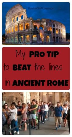 If you're visiting Ancient Rome Italy, here's my pro tip for how to skip the lines (without paying any extra!)