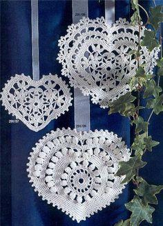 Crochê & Artesanatos: Crochê - motivos de coração