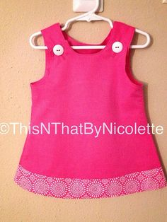 Modern pink dress by ThisNThatByNicolette on Etsy,