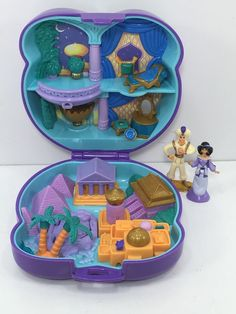1995 Vintage Polly Pocket Disney Aladdin Playcase Jasmine Bluebird Toys 02 | eBay