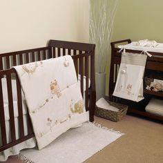 Nature's Purest Sleepy Safari 4-pc. Crib Bedding Set (White) featuring polyvore home children's room children's bedding baby bedding white