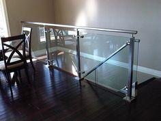 indoor glass ballisters | Interior Glass Railings