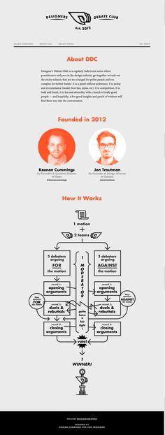 Unique Web Design, Designers Debate Club #WebDesign #Design (http://www.pinterest.com/aldenchong/)