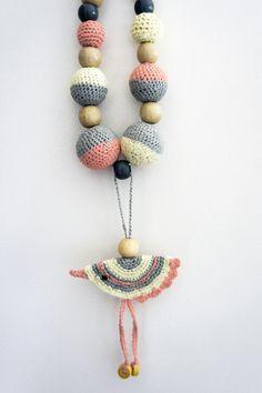 LACTANCIA breastfeeding necklace Nursing Necklace tutorial step to step Collar de lactáncia tutorial paso a paso #crochet #necklace