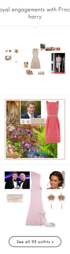 """Royal engagements with Prince harry"" by kimmeke-sascha ❤ liked on Polyvore featuring Oasis, Not Rated, Red Herring, J by Jasper Conran, Chelsea Flower, Carolee, Stuart Weitzman, Blue Nile, Jimmy Choo and Roland Mouret"