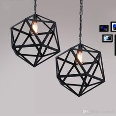 Industrial Edison Hanging modern chandeliers lighting minimalist chihuly style chandeliers Large Size Art Deco Cage Lamp Guard Metal Modern Chandelier, Chandeliers, New Interior Design, Rock Style, Cool Designs, Art Deco, Industrial, Design Ideas, Ceiling Lights