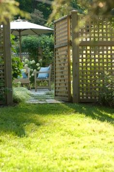Dense trellis fence with gate