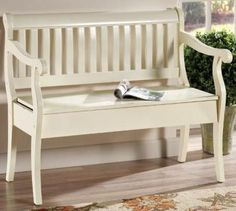 bench...want somethimg like this for front porch...could put pillows/decor on it for each holiday/season