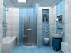[New] The 10 Best Home Decor Today (with Pictures) Blue Bathroom Rugs, Modern Bathroom Decor, Classic Bathroom, Bathroom Colors, Bathroom Styling, Bathroom Interior, Bathroom Ideas, Custom Bathroom Cabinets, Bad Styling