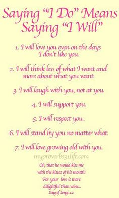 """Saying,"""" I do """" means """" I will"""". marriage advice-To find more wedding planning tips, DIY, dress ideas and more GO TO:  CLICK THE IMAGE NOW."""