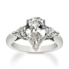 2.46 ct. t.w. Pear-Shaped Diamond 3-Stone Ring In Platinum | Kaboodle