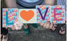 I love our blocks, vinyl and scrapbook paper!!