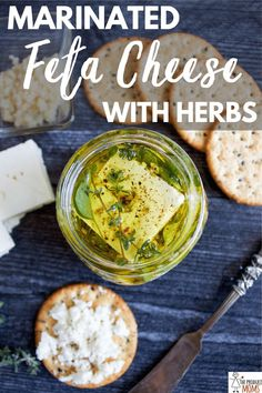 Feta is delicious all on it's own but when it's Marinated Feta Cheese with Herbs and Garlic you'll never want to eat it anyway but this again. It's easy and marinates overnight. Grab this recipe today. Healthy Appetizers, Appetizer Recipes, Healthy Snacks, Healthy Recipes, Eat Healthy, Healthy Zucchini, Dinner Healthy, Delicious Recipes, Vegetarian Recipes