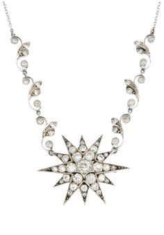 A beautiful old cut diamond star neckalce! 3.5 total carats of diamonds. Up for auction at Fellows.