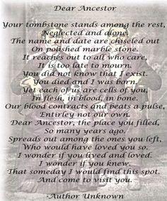 ~ Dear Ancestor... ~ by jerry