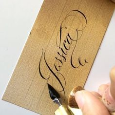 How they flourish letter a Copperplate Calligraphy, Calligraphy Envelope, Calligraphy Practice, How To Write Calligraphy, Calligraphy Handwriting, Cursive Fonts, Calligraphy Alphabet, Script Lettering, Penmanship